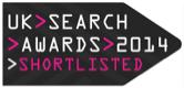 UK Search Awards Shortlisted Logo